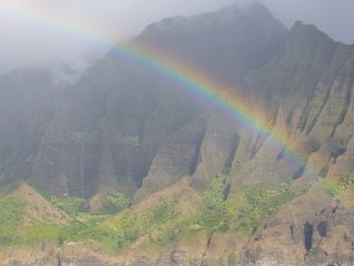 rainbow on the mountains, showing God's integrity