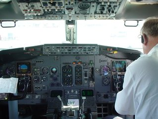pilot takes control of the aircraft