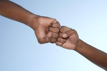 fist to fist means showing of trust