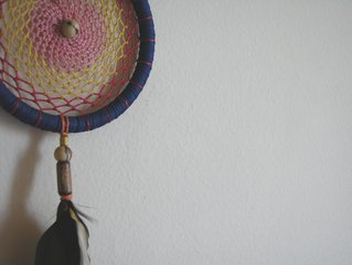 dream catcher hanging on the wall