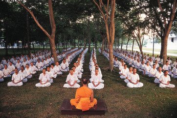 students learning to achieve inner peace