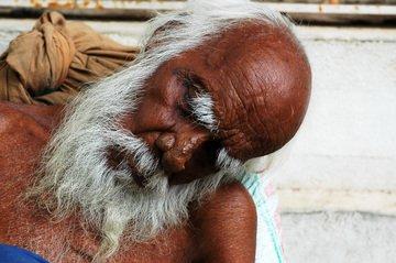 old man sleeping