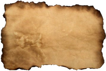 old parchment with a message