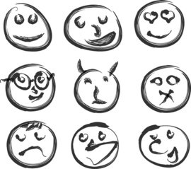 emoticons showing different emotions
