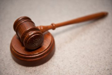 gavel in trial courts for guilty and not guilty suspects