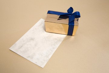 gift on a piece of paper
