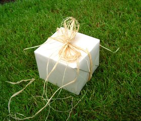 gift on the grass